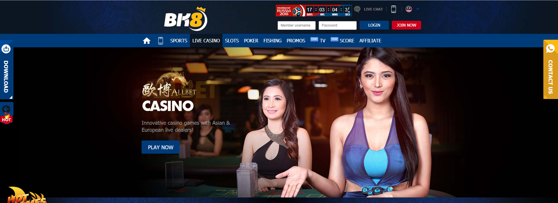 Live Casino 50% Special Bonus For BK8